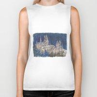 hogwarts Biker Tanks featuring Hogwarts Painting  by Christina Brunnock
