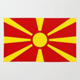 Macedonia Flag Rug