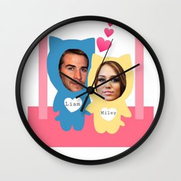 Miley and Liam 507 Wall Clock