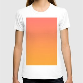 Pantone Living Coral 16-1546 & Pantone Radiant Yellow 15-1058 Ombre Gradient Blend T-shirt