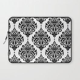 Black and White Damask Laptop Sleeve