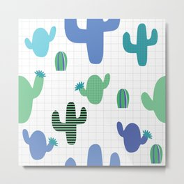 Cactus blue and green #homedecor Metal Print