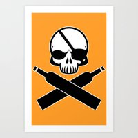 Skull Bandit Art Print
