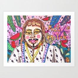 Post Melon Art Print