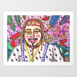 Post Melon Art Print