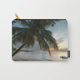 Palm tree and Sunset on the beach Mauritius Carry-All Pouch