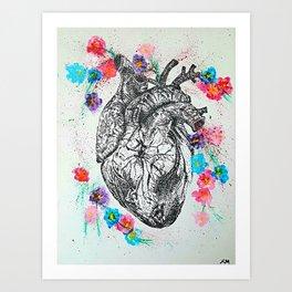 Flowering Heart Art Print