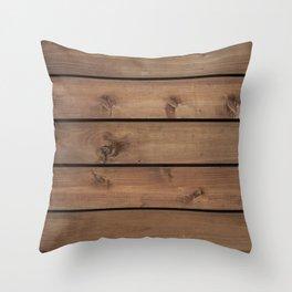 Wood Plank  Throw Pillow