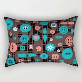 button it Rectangular Pillow