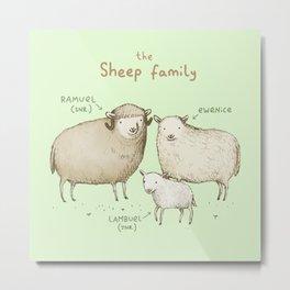 The Sheep Family Metal Print
