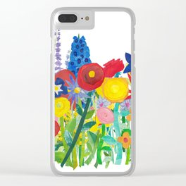 Flowery Bouquet Clear iPhone Case