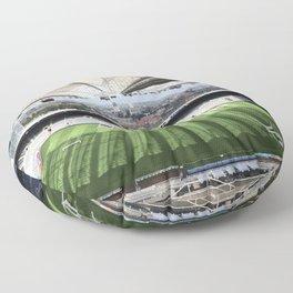 Newcastle Football Photography Floor Pillow