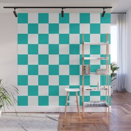 Checker (Eggshell Blue/White) Wall Mural