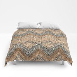 beaded chevron apricot Comforters
