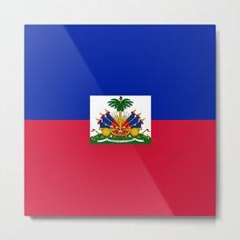 Haiti flag Metal Print