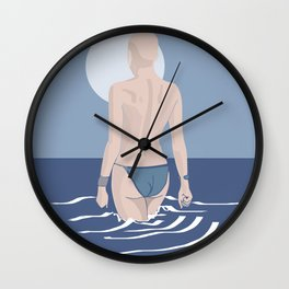 The girl from Budva in classic blue Wall Clock