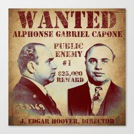 Al Capone FBI Wanted Poster Canvas Print