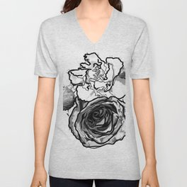 Partial Bouquet Unisex V-Neck