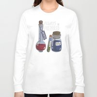 alchemy Long Sleeve T-shirts featuring Alchemy Potions by sw4mp rat