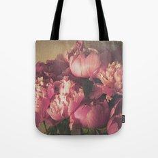 Pink Peonies II Botanical Still Life Tote Bag