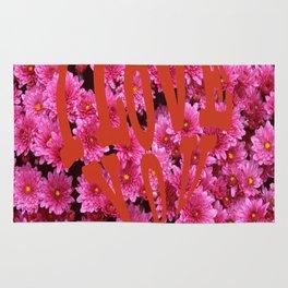 loves flower Rug