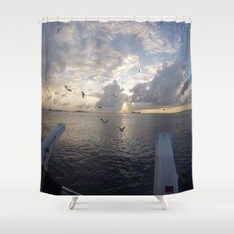 Cayman Island Sunset Shower Curtain