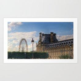 Louvre & Ferris  Art Print