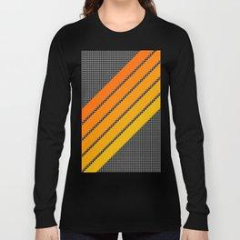 Orange Color Drift Long Sleeve T-shirt