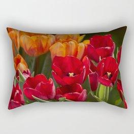 tulip flower in spring in the garden Rectangular Pillow