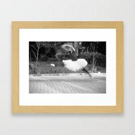 Ballerina in flight, 2012. Framed Art Print
