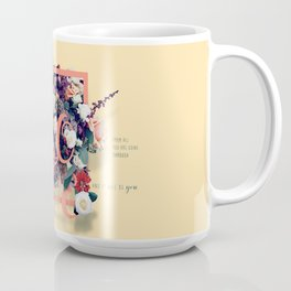 Beautiful and Modern Floral Hope Quote Print Coffee Mug