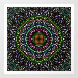 Hypnotic Church Window Mandala Art Print