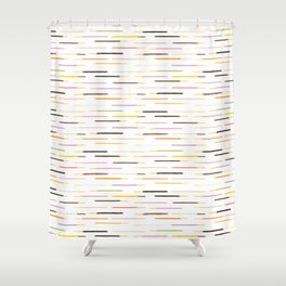 21 Flavors of Pocky - white Shower Curtain