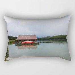 Maligne Lake Boathouse Rectangular Pillow