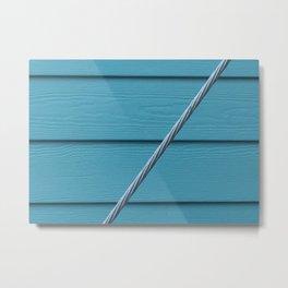 Turquoise Wall Metal Print