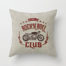 Rock 'n Roll Motorcycle Club Throw Pillow
