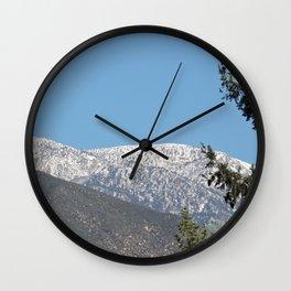 Southern California Snow Tease Wall Clock