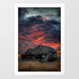 Shake House in Sunset Art Print