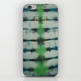 Tie Dye in Blue and Green 3 iPhone Skin