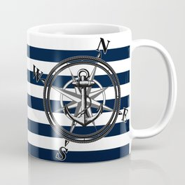 Navy Striped Nautica Coffee Mug