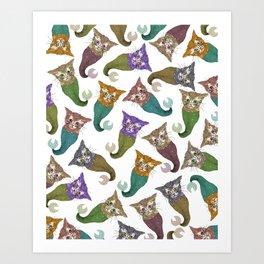 Cat Piranhas Art Print