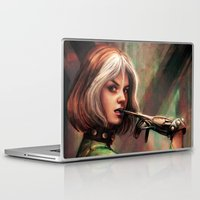 xmen Laptop & iPad Skins featuring Gloves Are Off by Five-Oclock
