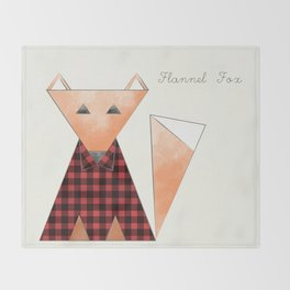 Flannel Fox Throw Blanket