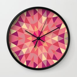 Warm Pink Retro Geometry Wall Clock