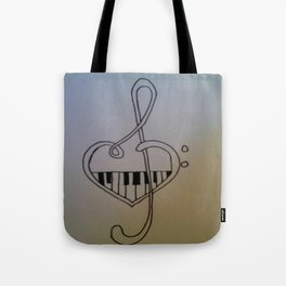 Treble Keys Tote Bag