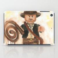 indiana jones iPad Cases featuring Indiana Jones Lego by Toys 'R' Art