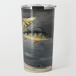 Vintage Winslow Homer Fish & Butterfly Painting (1900) Travel Mug