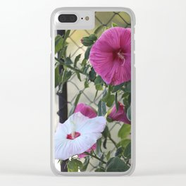 Hibiscus Flower of Many Colors Clear iPhone Case