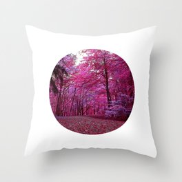 purple forest IV Throw Pillow