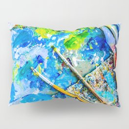 Palette And Brushes Pillow Sham